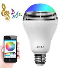 Smart Led Light Bulb Bluetooth Speaker 3w E27e26 Rgb Changing Music Lamp Wireless Stereo Audio Smartphone Controlled Dimmable Multicolored Color