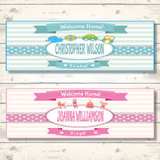 Welcome Home Baby Boy Banner Details About 2 Personalised Welcome Home Baby Banners Boy Or Girl