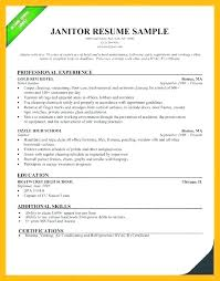 Custodian Resume Samples Unique Professional Janitor Resume Sample Custodian Template Metaxiaco