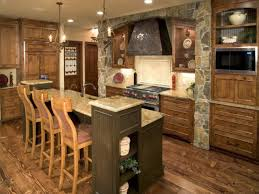 Kitchen Nice Rustic Traditional Kitchen Design With Wood Texture
