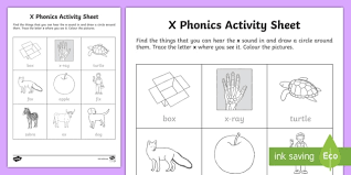 Welcome to our phonics worksheet section! X Phonics Worksheet Worksheet Teacher Made