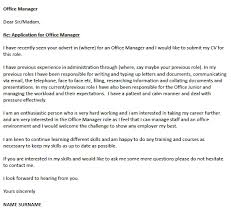 Dear Sir Madam Cover Letter Office Manager Cover Letter Example Icover Org Uk