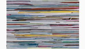 paul smith s rug made of hand knotted tibetan wool features vibrant lines inspired by the mid century technique of drip painting therugcompany com
