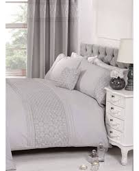 everdean fl grey super king duvet cover and pillowcase set zoom