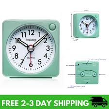 peakeep ultra small battery travel alarm clock with snooze and light silent no