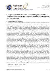 (PDF) Composition of basaltic lavas sampled by phase-2 of the ...