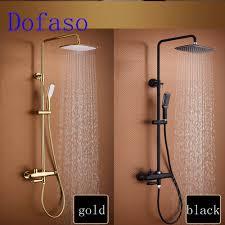 Us 5990 Dofaso Luxus Badezimmer Große Regen Dusche Mischbatterien Gold Dusche Set Und Schwarze Dusche Wasserhahn Alle Kupfer Weiß Bad Dusche In