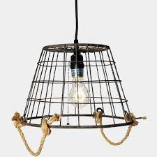 metal basket pendant light