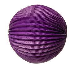 12 inch purple accordion paper lantern ball 30cm