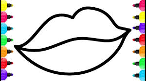 Small Picture Cute Lips Coloring Pages How To Draw Lips And Lipstick Drawing And