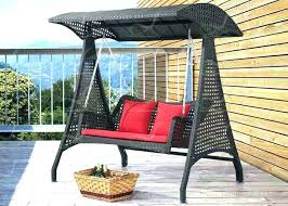outdoor wicker swing chair with stand rattan hanging dual sitting weller basket