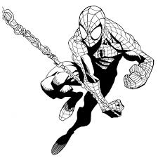 Disegno Di Spiderman Luomo Ragno Da Colorare Per Bambini