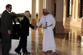 u s department of defense photo essay an i official greets u s defense secretary robert m gates at the bait al baraka