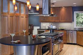 Kitchen Island with Cooktop and Vent Hood