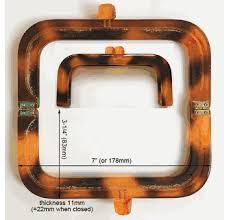 "<b>Resin</b> purse frame 7"" <b>x</b> 3-1/4"" Tortoiseshell HF07M-<b>TS</b> One piece ..."