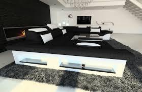 Stoff Wohnlandschaft Enzo Xxl Kanapé Sofa Furniture és