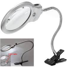 lamp and magnifying glass led large lens lighted lamp top desk 2x 5x magnifier magnifying glass