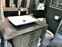 how to make a concrete bathroom countertop concrete vanity top for less stained concrete bathroom countertops