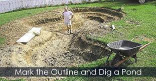how to build a pond building water garden or fish pond