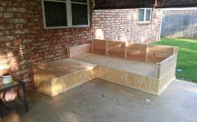 diy outdoor sectional with storage