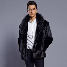 luxury men faux fur coat winter thick warm fluffy fur jacket fashion male black fur collar coats outwear mens clothes canada 2019 from youerclothing