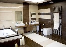 bathroom modern white. Luxurious Modern White Bathroom With Dark Wood Floors