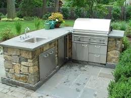 l shaped outdoor kitchen dimensions stainless steel bbq with bar and grill arched frame windows short