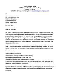 Sample Cover Letter Business Business Proposal Cover Letter Sample Orchestrateapp Com