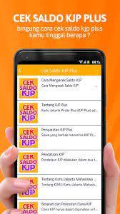 Cek Saldo Kjp For Android Apk Download