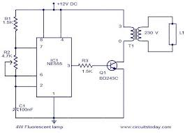 4w fluorescent lamp driver electronic circuits and diagram 4 w fluorescent lamp circuit
