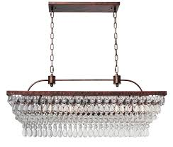 the weston 40 inch rectangular glass drop chandelier oil rubbed bronze