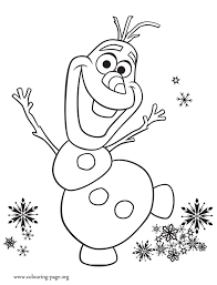 Small Picture Frozen Fever Olaf excited with birthday party coloring page