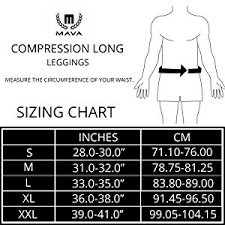 Drskin Compression Size Chart Mava Mens Compression Long Leggings Base Layer Tights For Workouts Running Cycling Sports Training Weightlifting All Weather Long Capri