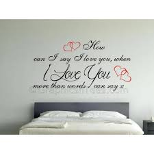 love you more than words can say romantic bedroom wall sticker love quote with red hearts on wall art stickers love quotes with love you more than words can say romantic bedroom wall sticker love