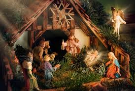 Image result for manger and christmas tree