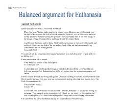 a balanced argument for euthansia gcse religious studies document image preview