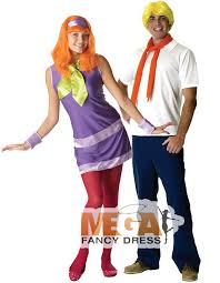 sentinel scooby doo daphne fred couple fancy dress costume mens las outfits wigs