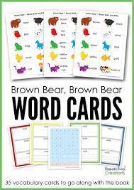 Brown Bear Brown Bear Vocabulary Cards Free Printables