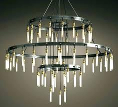 restoration hardware orb chandelier clear glass fringe round 3 crystal