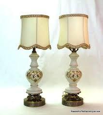 gilded fl satin glass vintage boudoir table lamps sold milk lamp hobnail