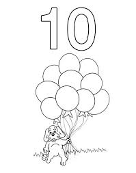 Small Picture Kindergarden Kids Learn Number 10 Coloring Page Bulk Color
