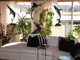 decoration ideas green design home design house design fantastic big fish sculpture and green plants decoration awesome small feng shui