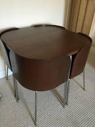 space saving table and chairs ikea ikea fusion compact space saving dining table chairs dark on