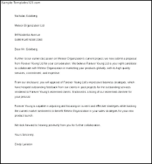 Sample Sales Letter Proposal Example Template Greenfeathers Co