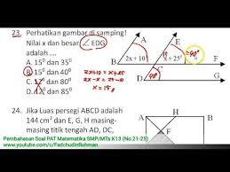 Kunci jawaban buku tematik kelas 5 tema 7. No 21 25 Pembahasan Soal Pat Ukk Matematika Kelas 7 Smp Mts Kurikulum 2013 Youtube