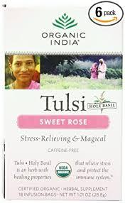 Organic India Organic Tulsi Herbal Tea, Sweet Rose ... - Amazon.com