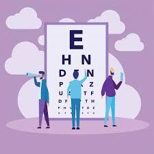 Eye Test Chart Concept Vector Premium Download