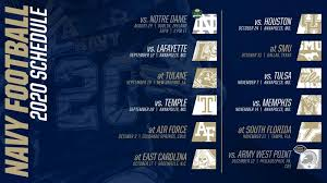 Full navy midshipmen schedule for the 2020 season including dates, opponents, game time and game result information. American Athletic Conference Releases 2020 Navy Football Schedule Naval Academy Athletics