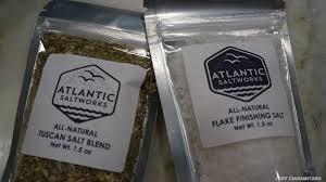 atlantic salt works atlantic saltworks flake finishing salt and tuscan salt blend