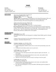 Social Worker Resume Templates Nice Sample Social Work Resume - Best ...